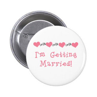 Melon Hearts I'm Getting Married Button
