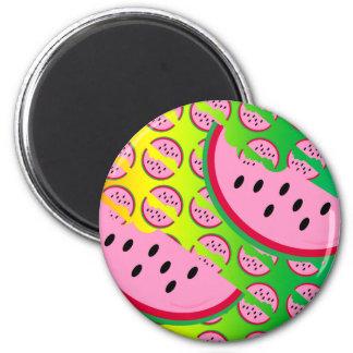 Melon Mania! 6 Cm Round Magnet