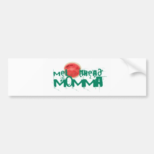 Melonhead Momma Stickers Bumper Sticker
