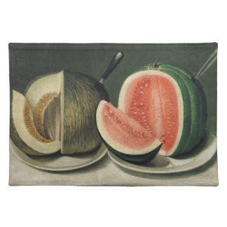 """Melons"" art placemats"