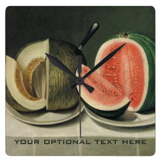 """Melons"" custom wall clock"