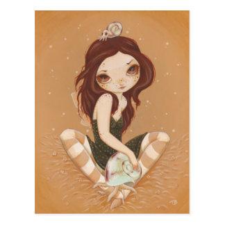 Melony - Fairy Cthulhu snail postcard