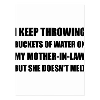 Melt Mother In Law Postcard