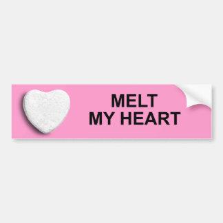 MELT MY HEART BUMPER STICKERS