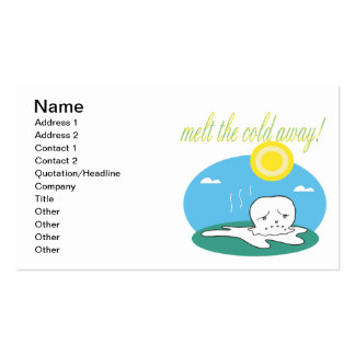 Melt The Cold Away Pack Of Standard Business Cards
