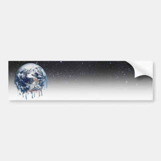 Meltdown (Half Universe Background) Bumper Sticker