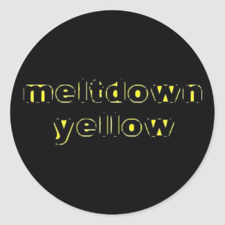 Meltdown Yellow Sticker
