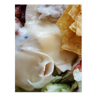 Melted Cheese Nacho Funny Food Postcard