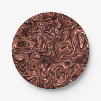 Melted chocolate Paper Plate for Birthday party