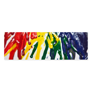 Melted Crayons Bookmark Pack Of Skinny Business Cards