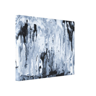 Melted Darkness Canvas Print