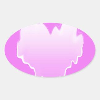 Melted Heart.jpg Oval Sticker