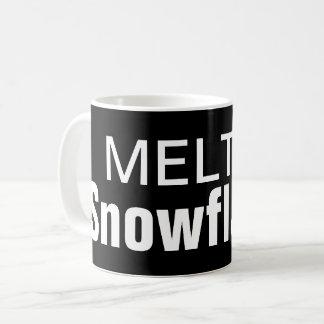 Melted snowflakes coffee mug