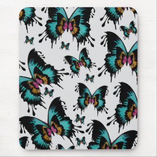 Melting butterfly pattern mouse pad