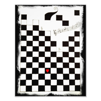 Melting Chessboard Photograph