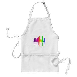 Melting cityscape aprons