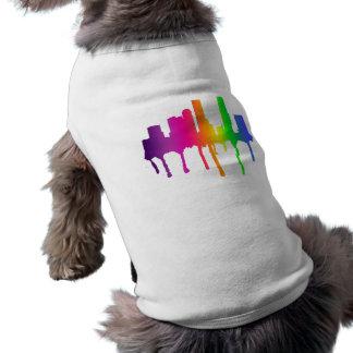 Melting cityscape doggie tee