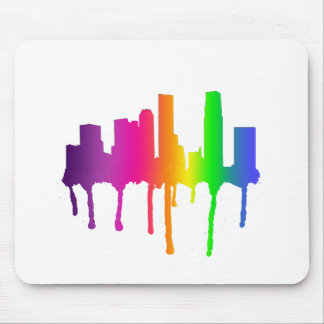Melting cityscape mouse mat