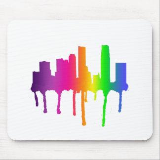 Melting cityscape mouse pad