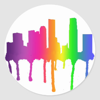 Melting cityscape stickers