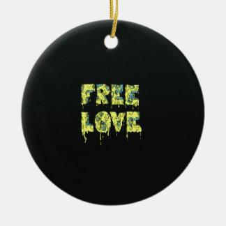 Melting free love graffiti style round ceramic decoration