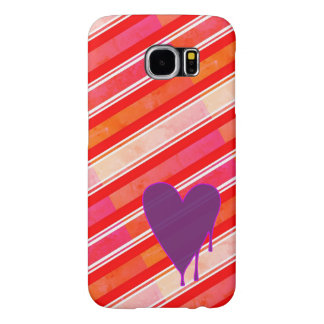 Melting Heart Purple Samsung Galaxy S6 Cases
