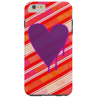 Melting Heart Purple Tough iPhone 6 Plus Case