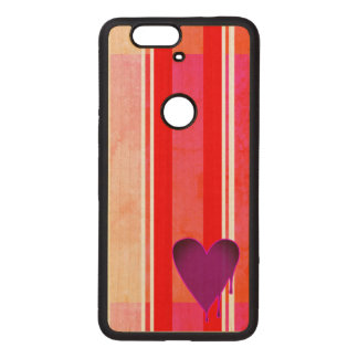Melting Heart Purple Wood Nexus 6P Case