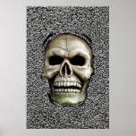MELTING MAN (Skull design) ~ Poster