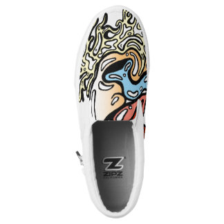 Melting Man Surfer Shoes Printed Shoes