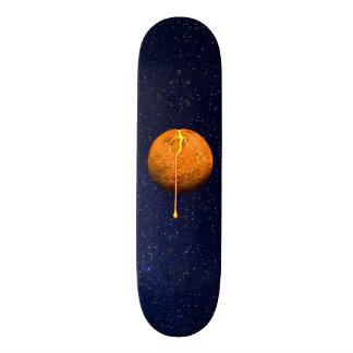Melting Moon Outer-space Stars Skateboard