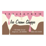 Melting Neapolitan Ice Cream Punch Card Pack Of Standard Business Cards