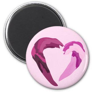 melting purple heart magnet