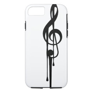 MELTPOINT WHITE Black G-Clef Custom Color iPhone 7 Case