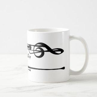 MELTPOINT WHITE Black Treble Clef 'Il Maestro' Coffee Mug