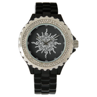 MELTPOINT WINTER Black White G-Clef Snowflake Watch