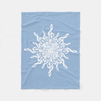MELTPOINT WINTER Blue Monogram G-Clef Snowflake Fleece Blanket