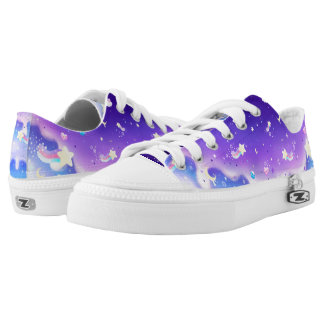 Melty milky way galaxy printed shoes