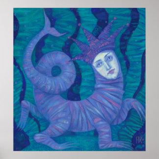 Melusine, Melusina, fantasy, surreal, water spirit Poster