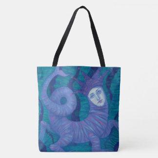 """""""Melusine"""", pastel painting, surreal fantasy art Tote Bag"""