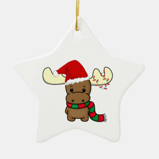Melvin Moose As Santa Christmas Ornament