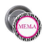 Mema Button - Zebra Style