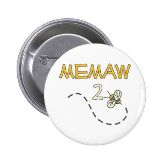 Memaw 2 Bee 6 Cm Round Badge