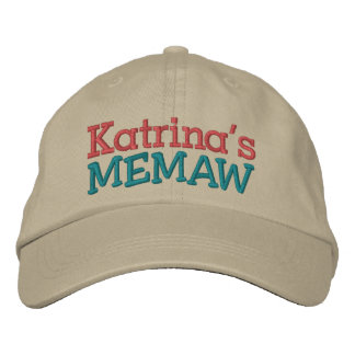 Memaw ... ; ) embroidered hat