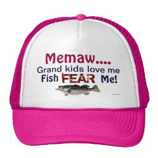 Memaw...Grand Kids Love Me Fish Fear Me Hat Trucker Hat