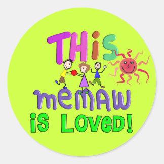 Memaw Grandmother Gifts Round Sticker