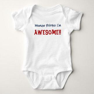Memaw Thinks I'm Awesome! Baby Infant Bodysuit