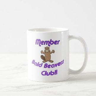 Member Bald Beavers Club Basic White Mug