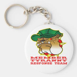 Member Bulldog Tyranny Response Team Basic Round Button Key Ring