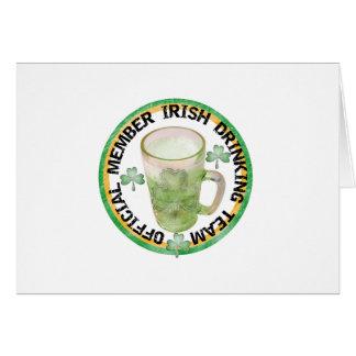 Member Irish Drinking Team Tshirts and Gifts Greeting Card
